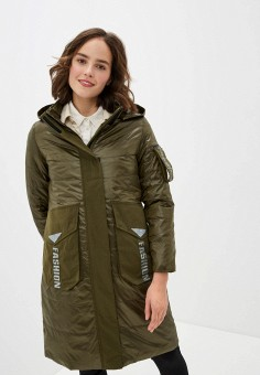 Куртка утепленная, Clasna, цвет: хаки. Артикул: CL016EWIQOE8.