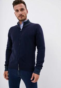 Кардиган, Cortigiani, цвет: синий. Артикул: CO068EMJNVJ2. Одежда / Джемперы, свитеры и кардиганы / Кардиганы