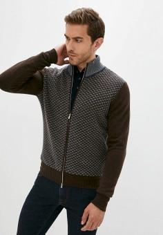 Кардиган, Cortigiani, цвет: коричневый. Артикул: CO068EMJNVJ8. Одежда / Джемперы, свитеры и кардиганы / Кардиганы