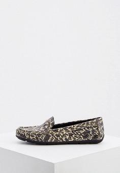Мокасины, Coach, цвет: коричневый. Артикул: CO069AWJSLE2. Обувь / Мокасины и топсайдеры
