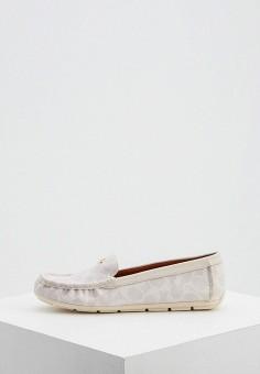 Мокасины, Coach, цвет: белый. Артикул: CO069AWJSQW6. Обувь / Мокасины и топсайдеры