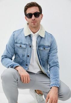 Куртка джинсовая, Cotton On, цвет: голубой. Артикул: CO092EMJACT5. Одежда / Верхняя одежда / Джинсовые куртки