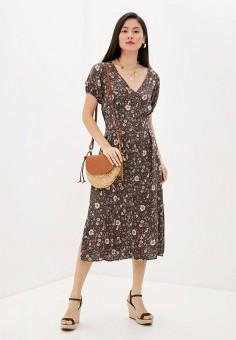 Платье, Cotton On, цвет: коричневый. Артикул: CO092EWJBTW8. Одежда / Платья и сарафаны / Повседневные платья