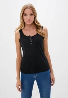 Майка, Cotton On, цвет: черный. Артикул: CO092EWKDEM7. Одежда / Топы и майки
