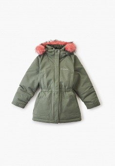 Куртка утепленная, Columbia, цвет: хаки. Артикул: CO214EGGEUX0. Девочкам / Одежда / Верхняя одежда / Куртки и пуховики