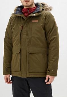 Куртка утепленная, Columbia, цвет: хаки. Артикул: CO214EMHIDI8. Одежда / Верхняя одежда / Пуховики и зимние куртки / Зимние куртки