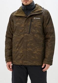 Куртка утепленная, Columbia, цвет: хаки, черный. Артикул: CO214EMHIDJ8.