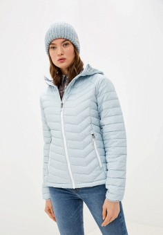 Куртка утепленная, Columbia, цвет: бирюзовый. Артикул: CO214EWGEWG0.