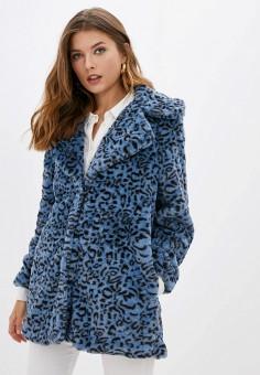 Шуба, Compania Fantastica, цвет: синий. Артикул: CO713EWGNBQ2. Одежда / Верхняя одежда / Шубы и дубленки