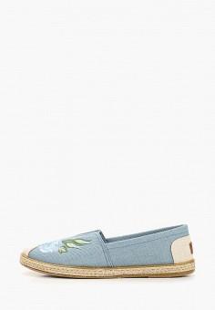 Балетки, Crosby, цвет: голубой. Артикул: CR004AWEOHR0. Обувь / Балетки