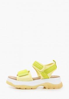 Сандалии, Crosby, цвет: желтый. Артикул: CR004AWIHTR3. Обувь / Сандалии