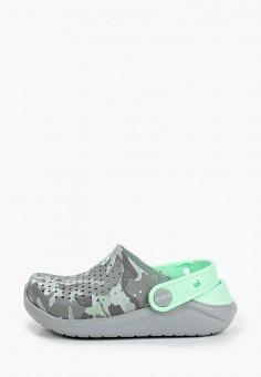 Сабо, Crocs, цвет: серый. Артикул: CR014ABIJVD3.