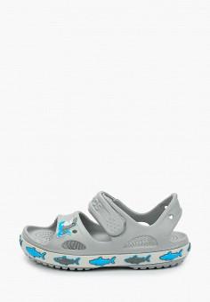 Сандалии, Crocs, цвет: серый. Артикул: CR014ABIJVG5.