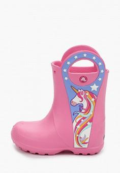 Резиновые сапоги, Crocs, цвет: розовый. Артикул: CR014AGIJVC1.