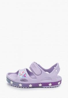 Сандалии, Crocs, цвет: фиолетовый. Артикул: CR014AGIJVC7.
