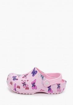 Сабо, Crocs, цвет: розовый. Артикул: CR014AGIJVD5.