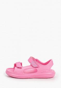 Сандалии, Crocs, цвет: розовый. Артикул: CR014AGIJVF1.