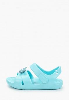 Сандалии, Crocs, цвет: бирюзовый. Артикул: CR014AGIJVF2.