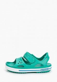 Сандалии, Crocs, цвет: зеленый. Артикул: CR014AKIJVG4.
