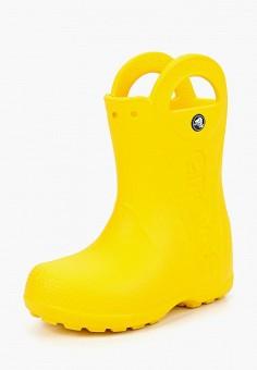 Резиновые сапоги, Crocs, цвет: желтый. Артикул: CR014AKKC212.