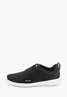 Кроссовки, Crocs, цвет: черный. Артикул: CR014AMKFLE4.