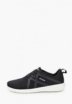Кроссовки, Crocs, цвет: черный. Артикул: CR014AMKFLE6.
