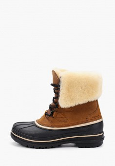Ботинки, Crocs, цвет: коричневый. Артикул: CR014AMKFLF2.