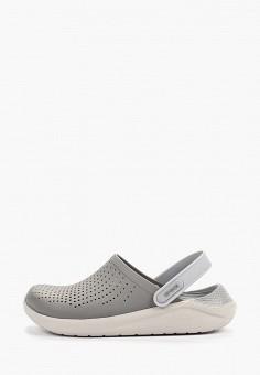Сабо, Crocs, цвет: серый. Артикул: CR014AUGKYK9.