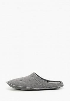 Тапочки, Crocs, цвет: серый. Артикул: CR014AUGKYL9. Обувь / Домашняя обувь