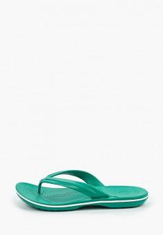 Сланцы, Crocs, цвет: зеленый. Артикул: CR014AUIJPT1. Обувь / Резиновая обувь