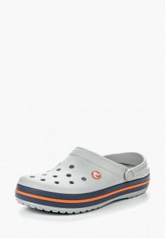 Сабо, Crocs, цвет: серый. Артикул: CR014AUREC55.
