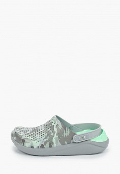 Сабо, Crocs, цвет: серый. Артикул: CR014AWIKCA7.