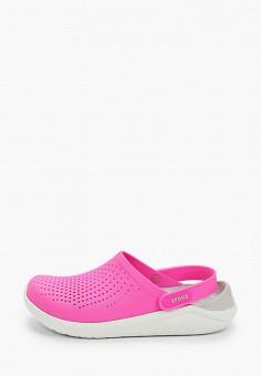 Сабо, Crocs, цвет: розовый. Артикул: CR014AWIKCC9.