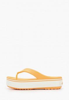 Сланцы, Crocs, цвет: оранжевый. Артикул: CR014AWIKCD0.