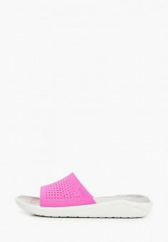 Сланцы, Crocs, цвет: розовый. Артикул: CR014AWIKCD7.