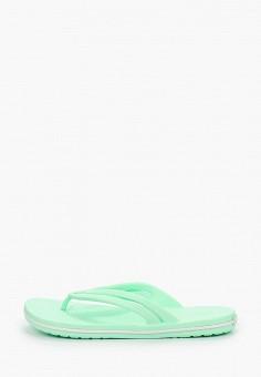 Сланцы, Crocs, цвет: зеленый. Артикул: CR014AWIKCE1.