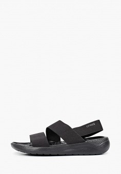 Сандалии, Crocs, цвет: черный. Артикул: CR014AWIKCF2.