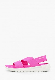 Сандалии, Crocs, цвет: розовый. Артикул: CR014AWIKCF5.
