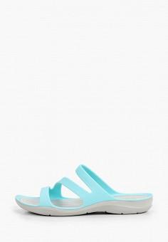 Сланцы, Crocs, цвет: голубой. Артикул: CR014AWIKCF7. Обувь / Резиновая обувь