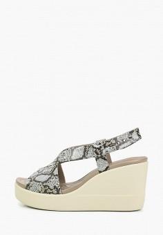 Босоножки, Crocs, цвет: серый. Артикул: CR014AWIKCG4.