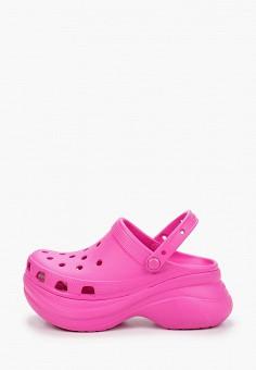 Сабо, Crocs, цвет: розовый. Артикул: CR014AWIKCG9. Обувь / Резиновая обувь