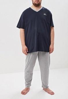 Комплект, D555, цвет: синий. Артикул: D2000EMEOUK2. Одежда / Домашняя одежда