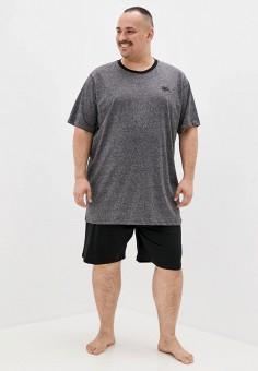 Пижама, D555, цвет: синий, черный. Артикул: D2000EMIAJJ5. Одежда / Домашняя одежда
