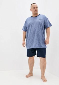 Пижама, D555, цвет: синий. Артикул: D2000EMIAJJ6. Одежда / Домашняя одежда