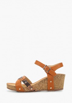 Босоножки, Damerose, цвет: коричневый. Артикул: DA016AWJEDK0. Обувь / Босоножки