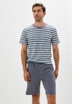 Пижама, Dansanti, цвет: серый. Артикул: DA052EMKCDC0. Одежда / Домашняя одежда
