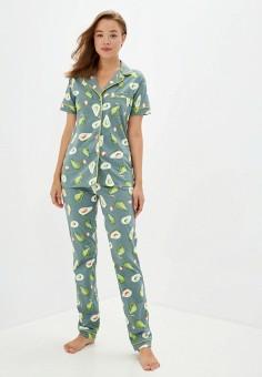 Пижама, Dansanti, цвет: зеленый. Артикул: DA052EWKCDC8. Одежда / Домашняя одежда / Пижамы