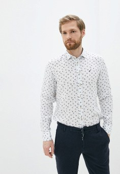 Рубашка, Daniel Hechter, цвет: белый. Артикул: DA579EMIBTZ9. Одежда / Рубашки