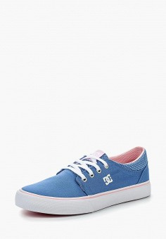 Кеды, DC Shoes, цвет: голубой. Артикул: DC329AGPEW47. Девочкам / Спорт