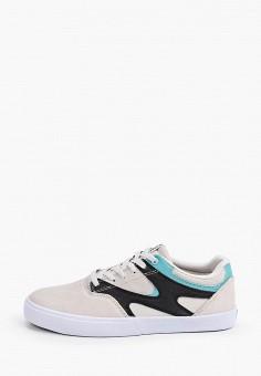 Кеды, DC Shoes, цвет: бежевый. Артикул: DC329AMIJDB7.